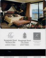 Kempinski  2  - Turkey---[map]---key Card, Room Key, Schlusselkarte, Hotelkarte - Cartas De Hotels