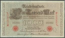#07. GERMANY / ALEMANGNE. 1000mark. 21/4/1910. Pick 44/Ros45e. BEAUTIFUL CONDITION - [ 2] 1871-1918 : German Empire