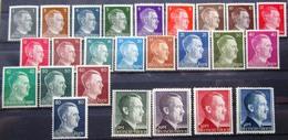 DR Hitler Dauerserie Kpl. Mi. Nr. 781-802+826,827 Postfrisch ** - Non Classificati