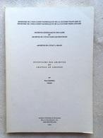 Inventaire Des Archives Du Chateau De LOSANGE - 1982 - La Reine Mathilde De Belgique - Arlon - Bastogne