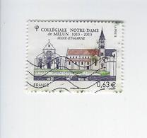 Série Touristique Centenaire De La Collégiale Notre-Dame De Melun 4743 Oblitéré 2013 - Gebruikt