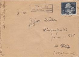 Lettre Obl. Frankenstein Le 20/3/42 Sur 12pf Bleu N° 736 (Journée Des Héros) + Cachet Chemnitz über Frankenstein - Duitsland