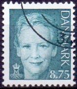 DENEMARKEN 2008 8.75kr Margrethe II Groen-grijs GB-USED - Danimarca