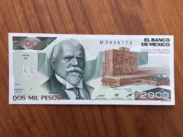 MEXIQUE - 2000 Pesos - Pick 82b - Quatrième Édition, Type 1 - Série W - Daté Du 7 Ago 1984 - UNC - Mexique