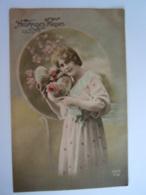 Pasen Pâques Fantaisie Femme Avec Oeufs Vrouw Met Eieren Edit Iso-platine ZED 479 Gelopen Circulée 1928 - Easter