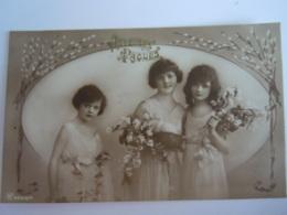 Pasen Pâques Fantaisie 3 Fillettes 3 Meisjes - Easter