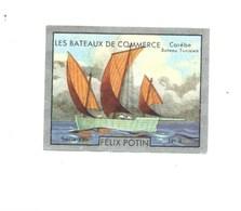 TUNISIE Carèbe (Tunisien) Bateaux De Commerce. Chromo Félix Potin TB Pub Au Dos 50 X 40 Mm 2 Scans RRR 1930's - Félix Potin