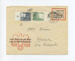 1938 3. Reich WHW Schmuckumschlag Schmuckbrief Mit WHW Schiffe Frankatur Minr 651-653 - Duitsland