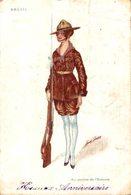 ILLUSTRATEURS Signés SAGER XAVIER BRESIL - AU SERVICE DE L'ENTENTE - PAR XAVIER SAGER - Weltkrieg 1914-18