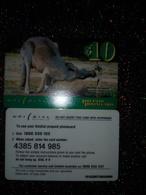 AUSTRALIE AUSTRALIA PREPAID UNIDIAL KANGOUROU RED KANGAROO 10$ UT VALID 30.06.1999 - Fish