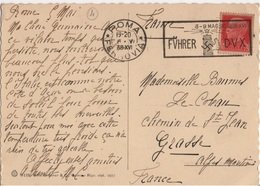 ITALIE YT N°233 OBLITERATION MECANIQUE FUHRER DUX MAGGIO 1938 SUR BELLE CARTE POSTALE ANIMEE - Marcofilía