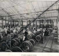DOCUMENT PHOTO : ETABLISSEMENTS BERGOUGNAN, PNEUS (1916), Clermont-Ferrand, Un Atelier De Pneus De Voiture - Zonder Classificatie