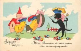 JOYEUSES PAQUES CHAT ET POUSSINS - Easter