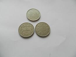 Lot  De  3 Monnaies   -  5 Francs   Belgique 1937   - 1931  5francs -  1931   5  Frank - Autres