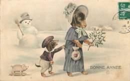 CHIENS HUMANISES BONNE ANNEE H.H.I.W N°459 - Hunde