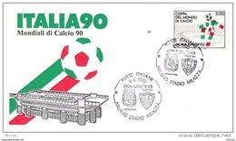 L4G025 ITALIE FDC Italia90 Moniali Di Calcio 90 08-06-1990 - F.D.C.