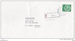 L4G197 SUISSE Lettre Recommandée Zurich Pour Roubaix France  Affr 1,50 Médaillon - Briefe U. Dokumente