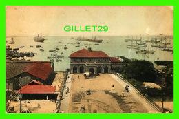 COLOMBO, SRI LANKA - COLOMBO HARBOUR AND SHIPPING - PLÂTÉ LTD - TRAVEL IN 1920 - ANIMATED WITH SHIPS - - Sri Lanka (Ceylon)