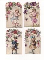 CHROMOS  - Lot De 4 -  Chaussures Et Galoches H. GIRAULT Paris -  Enfants, Angelots - Autres