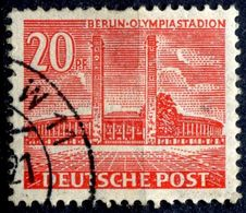 N° Yvert & Tellier 100 - Timbre D'Allemagne (Berlin) (1953-54) - (Oblitéré Avec Charnière) - Stade Olympique (20P) - Oblitérés