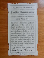 Communie Lecluyse Laura Meulebeke 1914 - Bruggeman Minnaert - Andachtsbilder