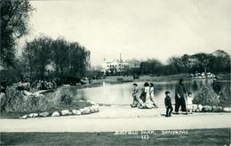 Chine China Shanghai Jessfield Park Magnifique Photo-carte Postale Et Timbres 1935 - Chine