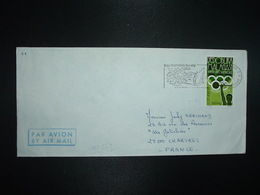 LETTRE TP MADAGASCAR ANNEE PREOLYMPIQUE MONTREAL 1975 HALTERES 200F OBL.MEC.14-3 1981 TANANARIVE RP - Haltérophilie