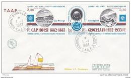 L4H003 TAAF 1983 FDC Dumont D'Urville 01 01 1983 Année Polaire Tryptique - FDC