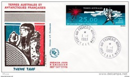 L4H006 TAAF 1983 FDC Port Aux Français Kerguelen 01 01 1983 Theme TAAS PA 25,00 - FDC