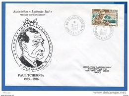 L4H099  TAAF 1992 FDC Port Aux Français Kerguelen 02 01 1992 Paul Tchernia 2,50 - FDC