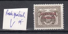 Ruanda - Urundi Ocb Nr :  TX20 * MH SURCHARGE ROUGE  (zie  Scan) - Ruanda-Urundi