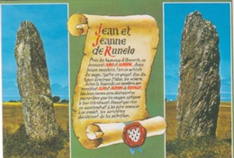 56 - BELLE ILE EN MER - Dolmen - Megalithes  Alignements - Menhirs JEAN ET JEANNE DE RUNELO - Dolmen & Menhirs