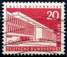 N° Yvert & Tellier 131 - Timbre D'Allemagne (Berlin) (1956-63) - (Oblitéré Avec Charnière) - Université Libre (20P) - Oblitérés