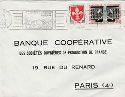 Sur Lettre Flamme De Besançon Affranchie 1186 Lille Et 1197 Ecole Des Mines - Marcofilia (sobres)