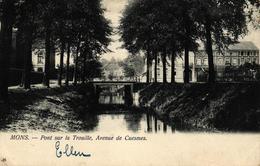 P428 BERGEN : Avenue De Cuesmes, Gelopen Kaart - Mons