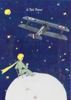 CPM Illustrée St Exupéry Le Petit PRINCE L'Avion Biplan Et Petit Prince Assis - Cuentos, Fabulas Y Leyendas