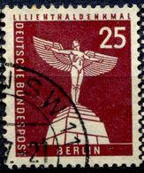 N° Yvert & Tellier 132 - Timbre D'Allemagne (Berlin) (1956-63) - (Oblitéré Avec Charnière) - Monument à Lilienthal (25P) - Oblitérés