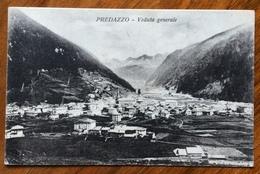 PREDAZZO - VEDUTA GENERALE -   Annullo Austriaco PREDAZZO *c * 7 VIII 23 Su LEONI 10 C. Per BOLOGNA - Trento
