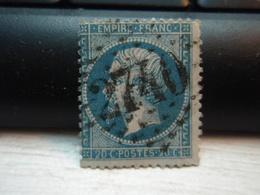 Timbre Napoléon III 20 C - EMPIRE FRANC  N° 22 Oblitéré. 2740 - 1862 Napoleon III