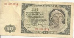 POLOGNE 50 ZLOTYCH 1948 VF P 138 - Pologne