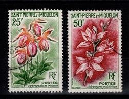 SPM - YV 362 & 363 Obliteres , Fleurs Cote 7 Euros - St.Pierre Et Miquelon