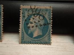 Timbre Napoléon III 20 C - EMPIRE FRANC  N° 22 Oblitéré.  898 - 1862 Napoleon III