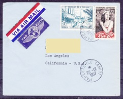 Oceanie Lettre 625 - 1957 Papeete Tahiti En Etats Unis - Covers & Documents