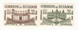 CINQUANTENAIRE 50° ANNIVERSAIRE ROTARY EQUATEUR ECUADOR  2VAL MNH  NEUF** - Rotary, Lions Club