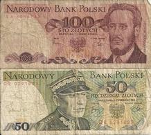 POLOGNE 50-100 ZLOTYCH 1982 VG+ P 142 B 143 D ( 2 Billets ) - Pologne