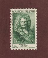 1029 De 1955 - Oblitéré - VAUBAN - Série : Célèbrités Du XIIème Au XXème Siècle - 2 Scannes - France