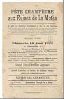 Papier Ancien  -Fête Champêtre Aux Ruines De La Mothe - Soulaucourt Outremecourt 1924  - Haute Marne - 52 - Autres