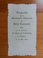 Communion Solennelle Aline Toussaint Charleroi 1932 - Andachtsbilder