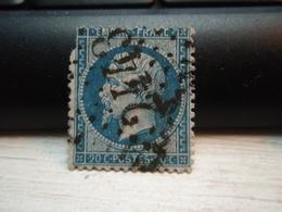 Timbre Napoléon III 20 C - EMPIRE FRANC  N° 22 Oblitéré. 2443, Manque Bord Haut Gauche - 1862 Napoleon III
