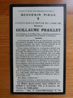 Décès Guillaume Praillet Verlaine 1893-1929 - Stockay Lemye Havelange - Andachtsbilder